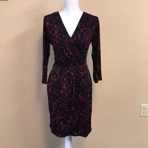 Tahari - Faux Wrap Dress